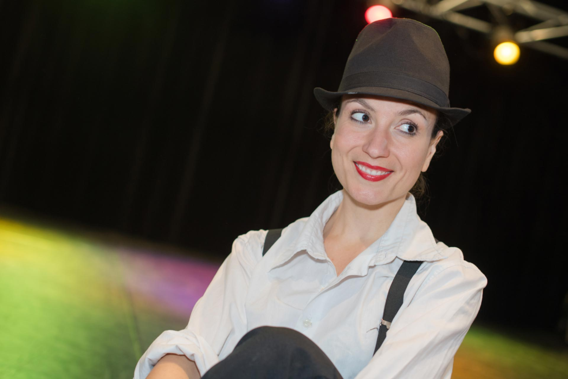 Nadia Themis - Performance Coaching, Lady on stage